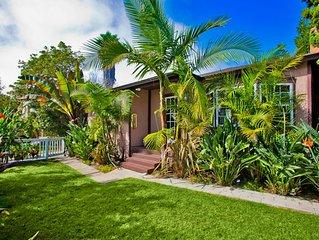 25% OFF JULY! Private Beach Home w/ Yard, AC, & Walk to Ocean!