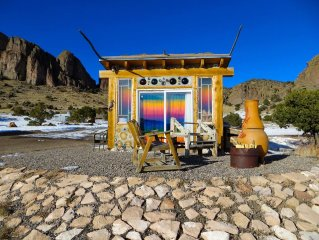 A Solar, Cordwood/Bottle Hand-Built Charming Cottage, In the La Garita Mountains