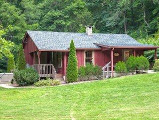 Hummingbird Cabin, PRISTINE LUXURY, GREAT LOCATION, HOT TUB