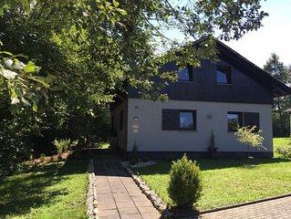 Komfortables 4*Ferienhaus,Terrasse,Grillplatz,Garten,Kamin,WLAN,inkl.Nebenkosten