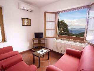 Nice house in the countryside in Elba Island, with beautiful sea view