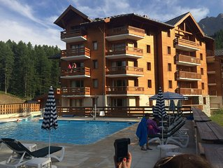 Vars Les Claux beautiful Apart. 2 c. 6 beds at the foot of the slopes heated po