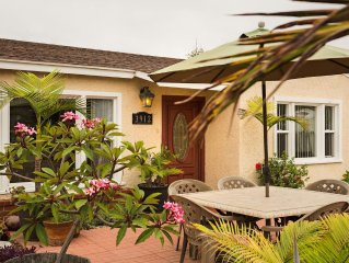Fabulous Beach Bungalow at Carlsbad Beach!  Off Season Pricing Available Now!