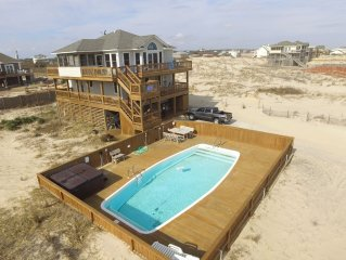*Lightly Salted*Oceanfront views*Pool*Spa*4x4 REQUIRED*Free parking passes