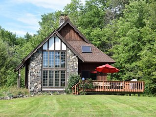 Winsome Windham - Secluded Chalet with Ski Windham Views