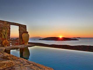 ABSOLUTE privacy , BREATHTAKING views , STUNNING architecture Mykonos villa