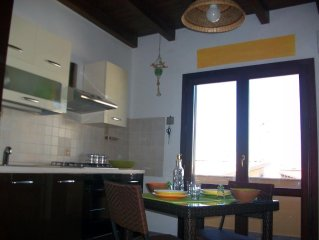 Apartment 365 m from the center of Santa Flavia with Air conditioning, Terrace,