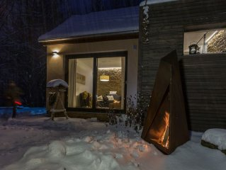 House 'Magic Fire' -schicke Design apartment in Turinger Forest