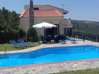Crete-Lassithi- Seaside village Milatos villa up to 16  people, swimming pool