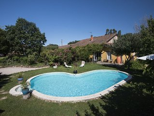 Converted gascony farmhouse with pool and original details and lots of mosaic