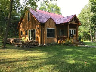 Pet friendly !  New Cottage/Cabin!  Private yet close to Lakes and small towns.