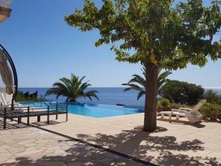 Mas Provencal plein Sud, vue mer 180° Golfe St Tropez, calme,charme, 300m plage