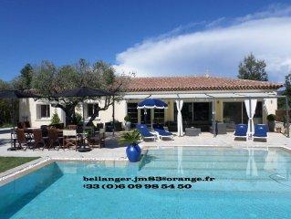 Superbe Villa avec piscine chauffee ,  Var, Le Castellet,  4 ch - 10 pers