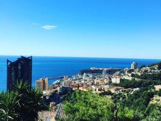 Aux portes de Monaco Magnifique Villa Vue Mer et Piscine chauffee