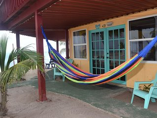Great family Unit right on the beach just steps from the Caribbean and Pool