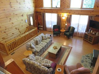 Remote Cabin on 34 Acres, WiFi, Hiking, sleeps up to 13 people, Pet Friendly