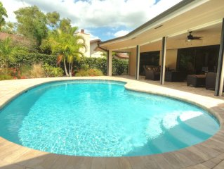 HEATED POOL * Luxury Pool Home * WIFI * Pooldeck * Garage* Minutes To The Beach