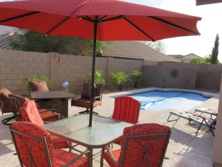 HEATED POOL!  3 BEDROOM In Quiet Sundance Community Of Buckeye, AZ