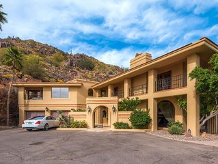 Mansion on the Mountain! Spectacular Views, Beautiful Pool, Spa, BBQ,Steam room