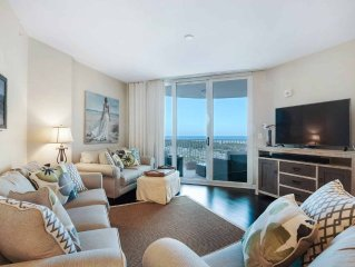 SPECIAL BRING BREAK RATES! GULF & POOL VIEWS FROM THIS 9TH FLOOR UNIT AT THE  P