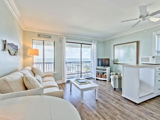 Amazing Sunrises from the Balcony of this Beachfront Condo with King Bed