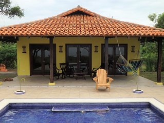 New 2 bdrm,1 bath beach front home with private pool, many amenities on 200 acre