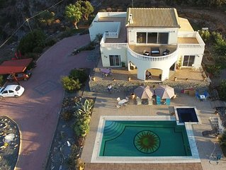 Villa Orianna with Private Pool + Jacuzzi with Fantastic Sea and Mountain Views