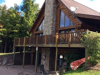 Iron River Lakefront all-seasons pet-friendly cabin on Hagerman Lake