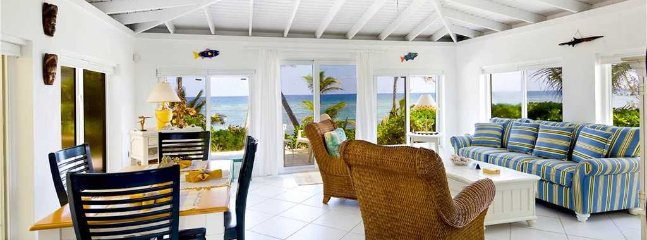 2BR-Cool Change: Oceanfront Caribbean Cottage in Rum Point-Excellent Snorkeling