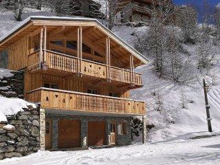 Chalet La Fontanette, construction neuve de 2016 a 300 m des pistes