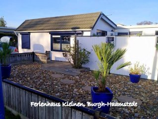 Cosy cottage with a large terrace near the forest, beach and sea