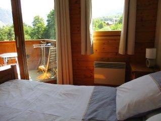 Appartement tout confort, Vallée de Chamonix, Piste à 50m / Vue magnifique