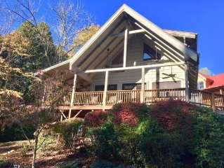 $169! Just 3 miles to Ski Cataloochee! BearFoot Cabin on 2 Creeks-Ranked Top 1%!