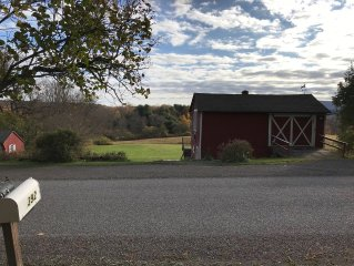 Serenity Barn with Beautiful Views! 3 Miles to Baseball Hall Fame & Dreams Park