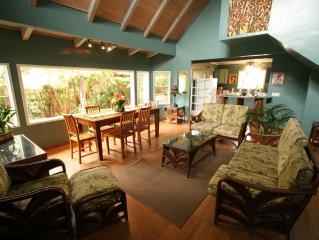 Volcano's Ohana House--Popular Rainforest Hideaway Sleeps 8