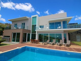 Modern luxury 4 bed house with large pool and garden and Atlantic views