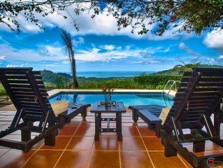 Panoramic Ocean View, Private Pool, 10-Min Drive To Beach