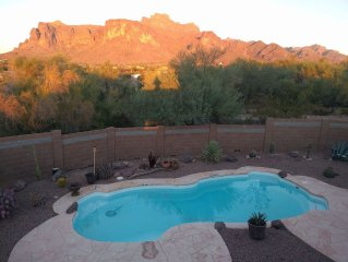Relax at the base of the Superstition Mountains