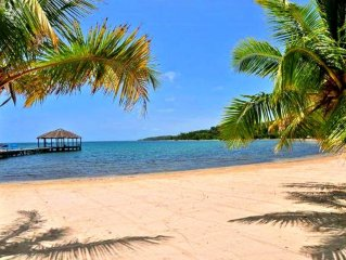 Expansive private beach, pristine snorkeling, dock, bar & grill, pool...