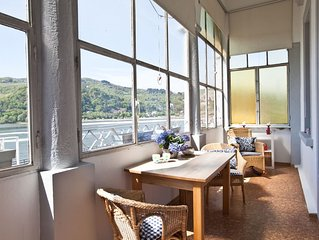 Rhine view purely from the dreamlike FÜRSTENBERG 5-star comfort Loggia / Sauna