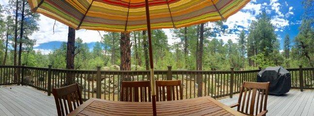 Notre arrière-cour .... La forêt nationale de Prescott .... Vue de notre plate-forme!