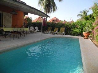 Charmante villa piscine privee( residence Safari)  100m plage privee tt confort