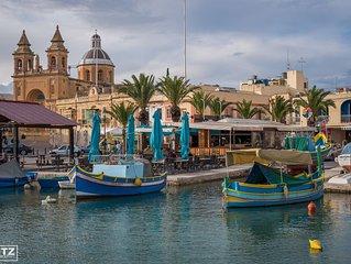 'Ta Diegu' - Nette, private Ferienwohnung in Marsaxlokk mit großer Dachterrasse