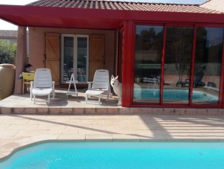 House with private heated pool