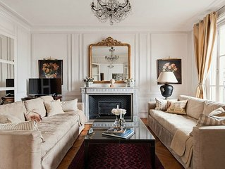 SALE!  Experience Opulent Parisian Living with Twinkling Eiffel Views