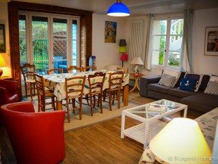Villa en rez de jardin independante idealement situee et totalement equipee