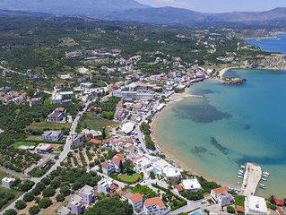 ALMYRIDA-SANDS- VITA, 100m de la plage, vue sur la baie de Souda