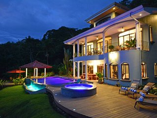 MAJESTIC, Gated 7 Acres, 45 km Ocean View! Swim-up bar! SHUTTLE, CHEF, CONCIERGE