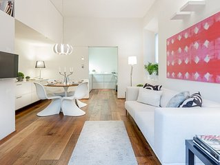 A homey luxury modern & quiet apartment with PARKING & garden within the walls