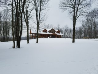Lost Bear Cabin, Winter Snowfall